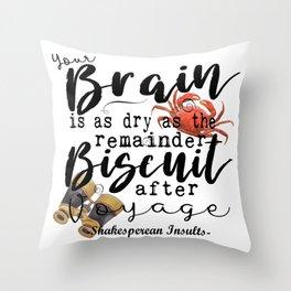 Biscuit Brain Throw Pillow