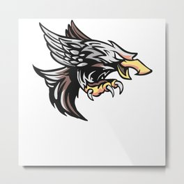 Eagle forest design bird birds mountain nature Metal Print