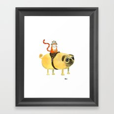 Commander Creamsicle Framed Art Print