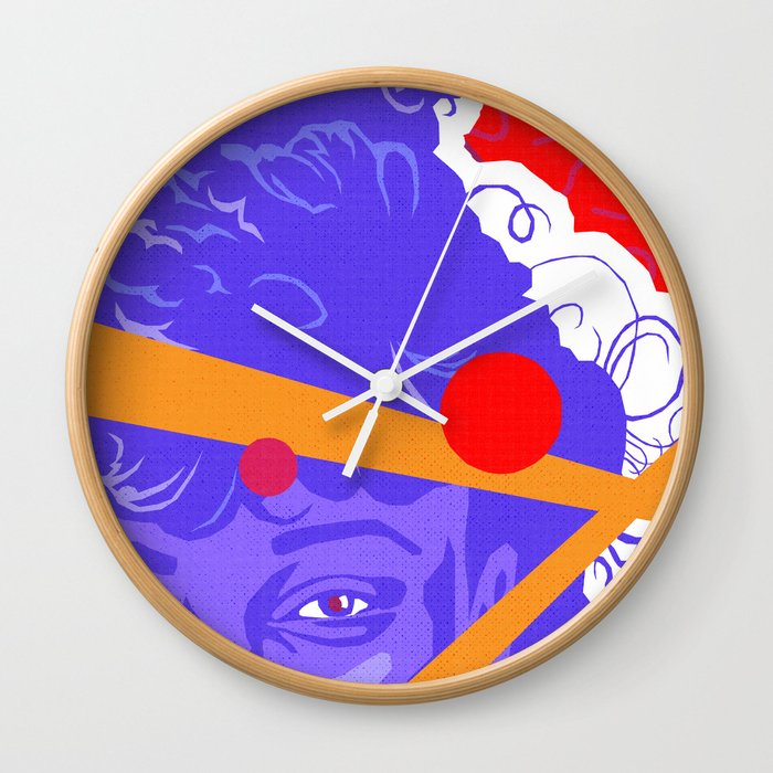LISA :: Memphis Design :: Saved By The Bell Series Wall Clock by  davidedwardjohnson
