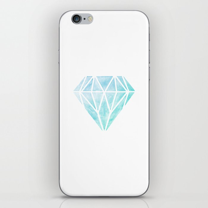 Diamond watercolour iPhone Skin