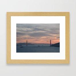 Golden Gate Bridge at Sunset Framed Art Print