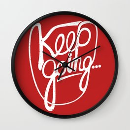 KEEP GO/NG Wall Clock