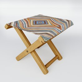Wild Wavy Diamonds 10 Folding Stool