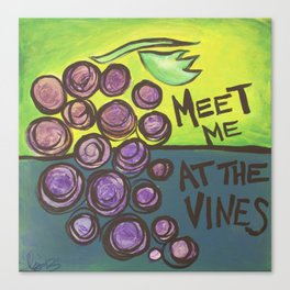 Meet me at the Vines Canvas Print