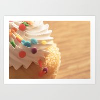 cupcake Art Prints featuring cupcake by Susigrafie