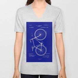 Vintage Bicycle Patent Blueprint Unisex V-Neck