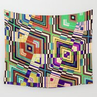 diamonds Wall Tapestries featuring Diamonds by Steve W Schwartz Art