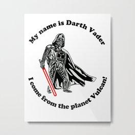 Vulcan Darth Vader Metal Print