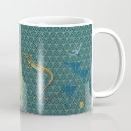The green lizard Coffee Mug