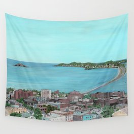 Ocean Lynn Massachusetts Nahant Egg Rock City Wall Tapestry