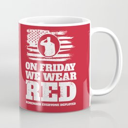 Wear Red Friday Veteran Soldier Coffee Mug