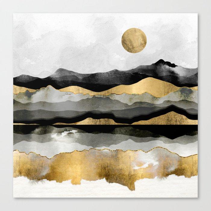 Golden Spring Moon Leinwanddruck