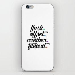 flush offset camber fitment v5 HQvector iPhone Skin