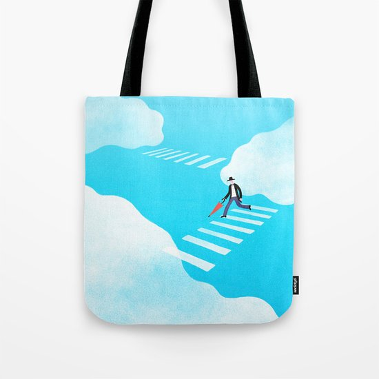 Walking on the sky Tote Bag