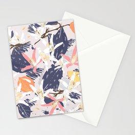 Tropical lemons. Trendy print Stationery Cards