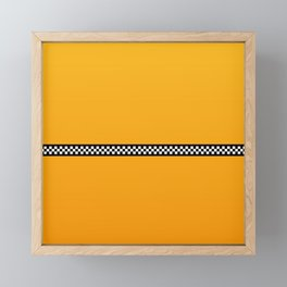 NY Taxi Cab Yellow with Black and White Check Band Framed Mini Art Print