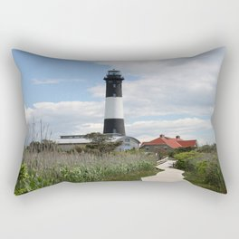 Fire Island Light With Reflection - Long Island Rectangular Pillow
