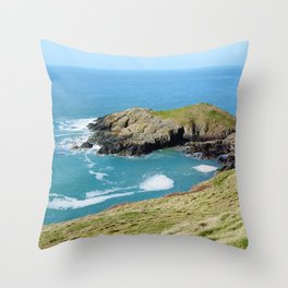 Dinas Bach II (Little Fort) - North Wales Coast Throw Pillow