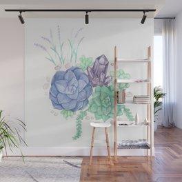 Botanical Succulents Wall Mural