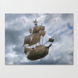 Sailing stormy skies Canvas Print