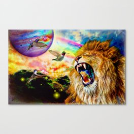 From the Mouth of the Lion Canvas Print