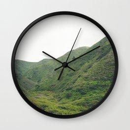 Green Mountains in California Wall Clock
