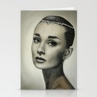 hepburn Stationery Cards featuring Audrey Hepburn by Claire Lee Art