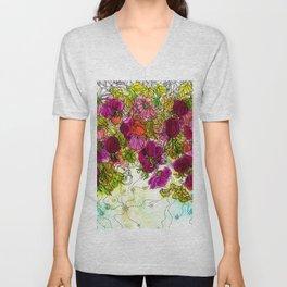 Dog-Rose. Autumn. Unisex V-Neck