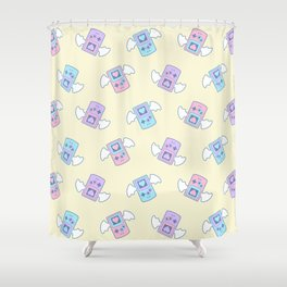 Press Heart to Continue Shower Curtain