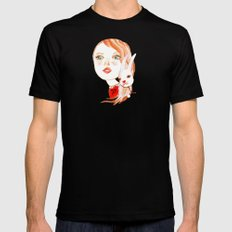 Real Beauty is without Cruelty Black MEDIUM Mens Fitted Tee