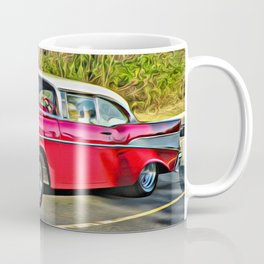Sunday Drive in the '55 - digital paint Coffee Mug
