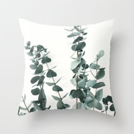 Eucalyptus Leaves Throw Pillow