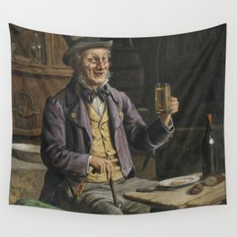 Drinking Beer Painting Wall Tapestry