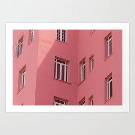 pink windows Art Print