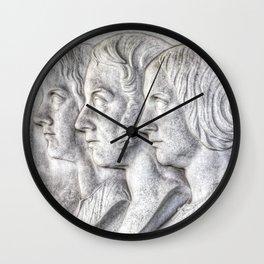 Victorian Family Cameo Wall Clock