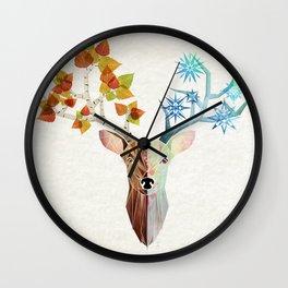 deer season Wall Clock