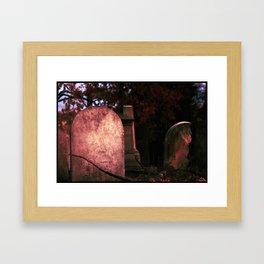 Sunset Stones (version 2) Framed Art Print