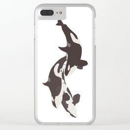 Orca Pod Clear iPhone Case