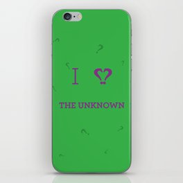 I heart The Unknown iPhone Skin