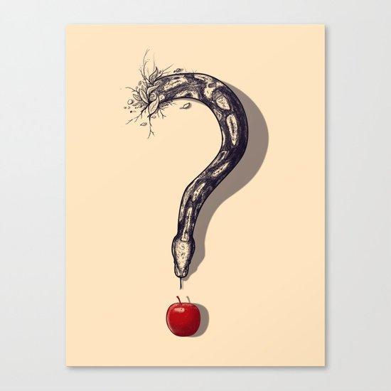 Curious Temptation Canvas Print