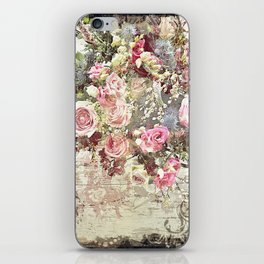 Shabby Chic Rococo Roses iPhone Skin