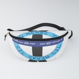 YES YES Means – ROUND Fanny Pack
