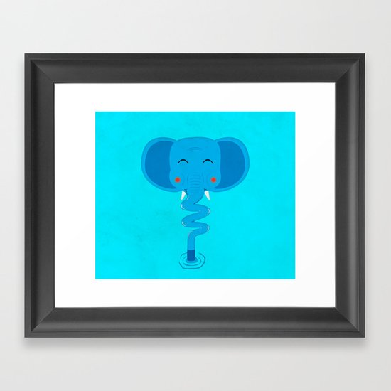 Elefun Framed Art Print