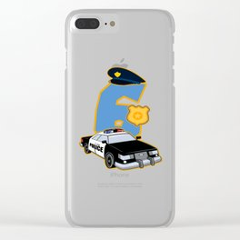 6th Birthday Police 6 Years Officer Costume Gift Clear iPhone Case