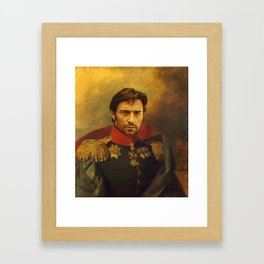 Hugh Jackman - replaceface Framed Art Print