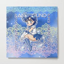 Chibi Super Sailor Mercury Metal Print