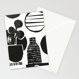 Black and White Lucky Plant Stationery Cards
