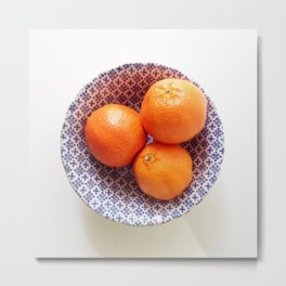 Three Oranges Metal Print