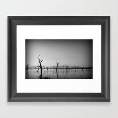 Sculptures in the Lake Framed Art Print